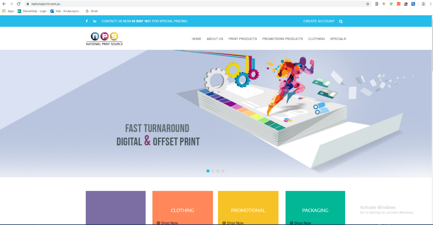 Our Website and CMS Solution for National Print Source!
