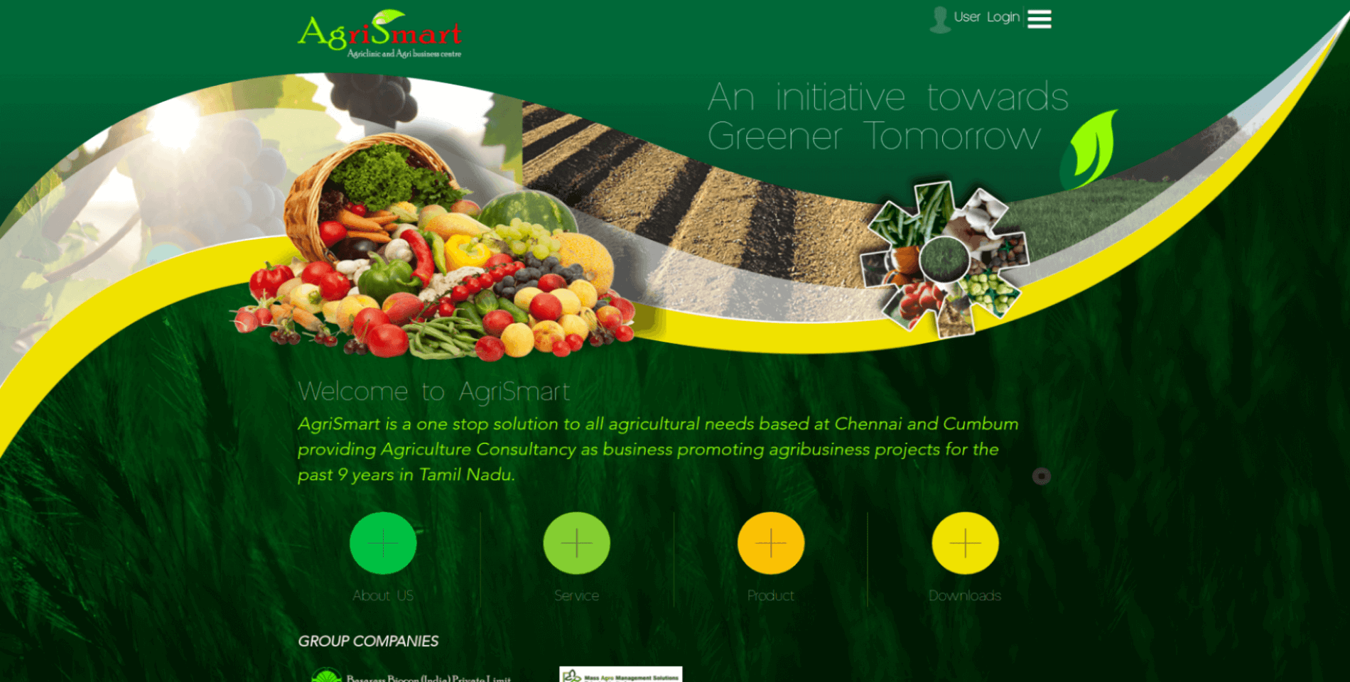 AgriSmart Website Desktop View