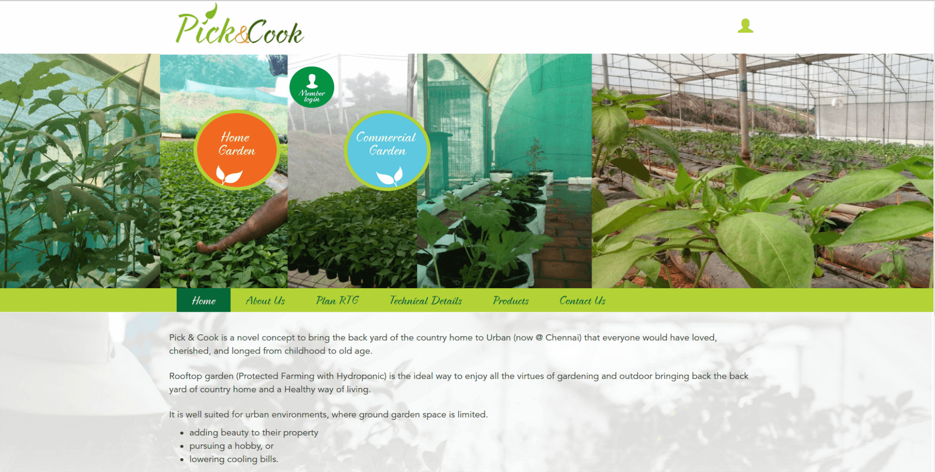 Pick and Cook Website Desktop View