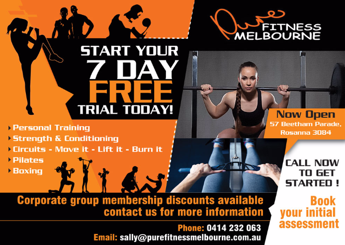Pure Fitness Flyer design